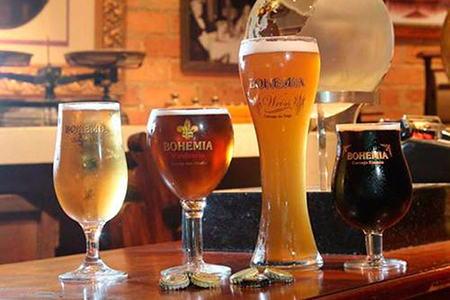 различные сорта пива в бокалах