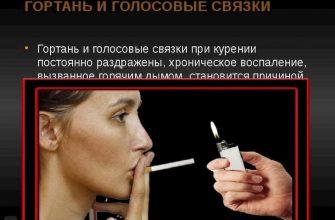 Голос после курения становится грубым