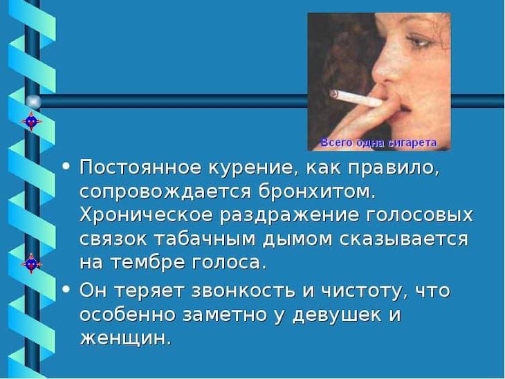 Голос после курения восстановится сам